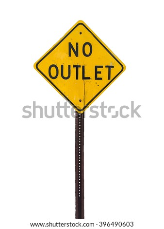 no outlet sign on white background, symbol