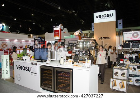 NONTHABURI - MAY 25 : Manufacturer showing products about food industry in during exhibition of THAIFEX - World of food ASIA 2016 on May 25, 2016 in Nonthaburi, Thailand.