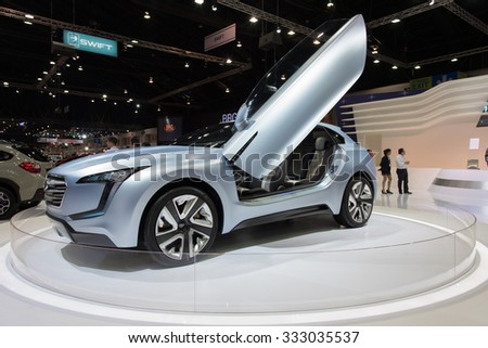 NONTHABURI, THAILAND - NOVEMBER 28: The Subaru VIZIV concept  is on display at the 31st Thailand International Motor Expo 2014 on November 28, 2014 in Nonthaburi, Thailand.