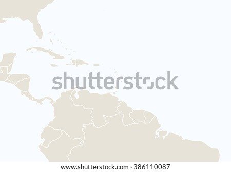 North America Highlighted Grenada Map Vector Stock Vector 339621305
