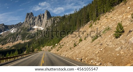 North Cascades Highway. The North Cascades Highway is the first National Scenic Highway in the United States. There are sweeping vistas, alpine meadows, wildlife watching and recreation galore.