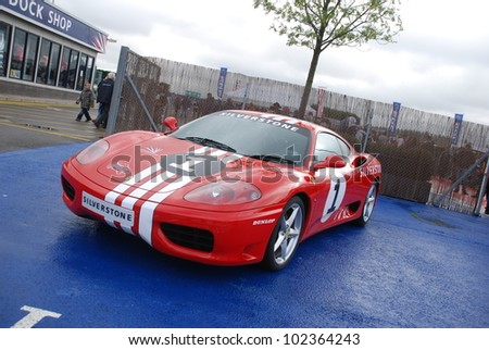 NORTHAMPTON, ENGLAND - SEPTEMBER 7: Ferrari on September 7, 2008 in Northampton, England, UK. Silverstone Race Circuit is Host to Annual Trax Automotive Show