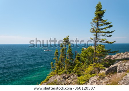 Northern shore of Great Lake Superior.  Pukaskwa National Park of Canada. Ontario, Canada