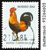 NORWAY - CIRCA 1984: a stamp printed in the Norway shows Rooster, Centenary of Poultry Breeding Society, circa 1984 - stock photo