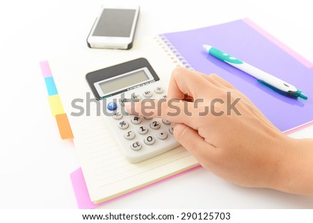 Note and calculator