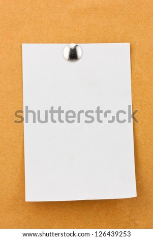 note paper with metal push pins