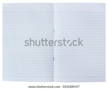 notebook paper background on white background.