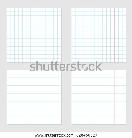 Notebook Paper Texture Cell Lined Template Vector 590771255 – Template for Notebook Paper