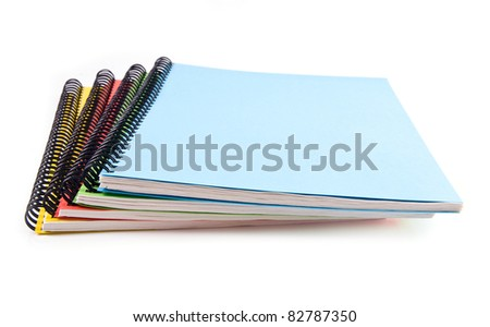notebooks on a white background