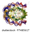 Nucleosome core particle structure - stock photo