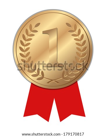 Number One winner ribbon