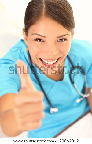 Happy Young Asian Woman With A Beautiful Vivacious Smile