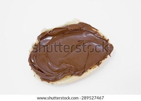 Gourmet Dark Chocolate Truffle On White Stock Photo ...