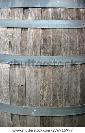 Oak barrel background.