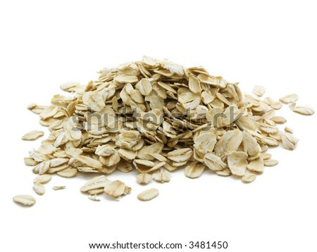 Oats isolated on white