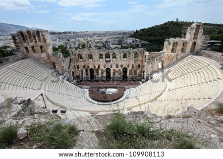Odeon of Herodes Atticus Theater in Acropolis, Athens, Greece
