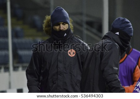 ODESSA, UKRAINE - December 08, 2016: Zlatan Ibrahimovic during the UEFA Europa League match between Zarya Lugansk vs Manchester United (Manchester, United Kingdom), Ukraine