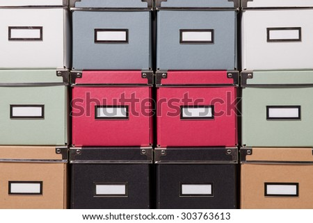 office cardboard boxes background