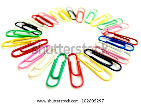 Office clips in colours.