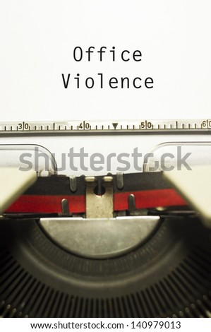 Workplace Violence, Human Resources
