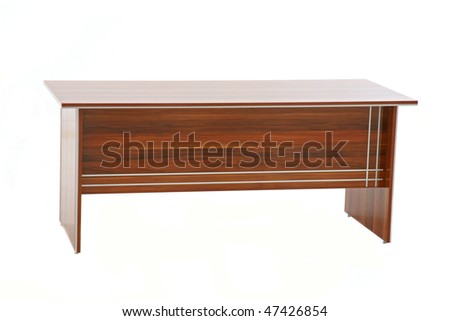 Small Wooden Television Table Isolated On Stock