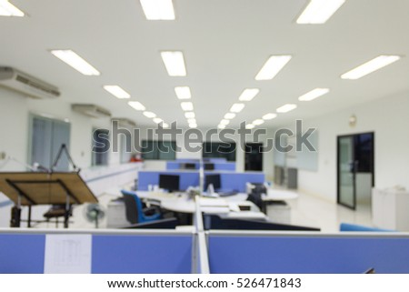 Office working blured background