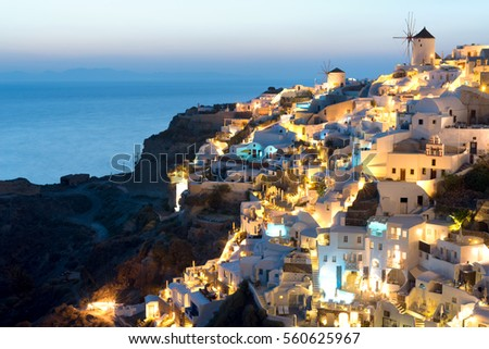 Oia, in Santorini, Greece