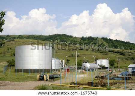 Oil facilities tank and store