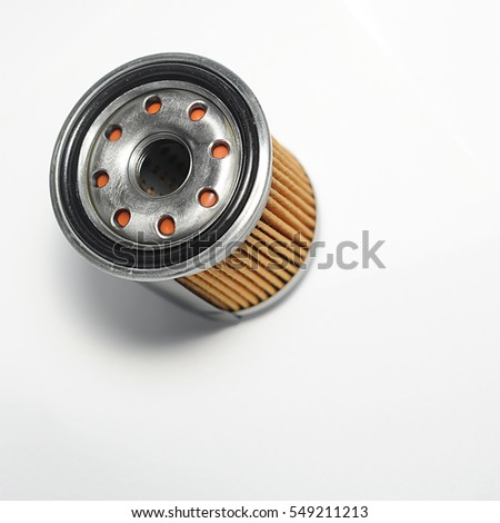 OIL FILTER VIEW FROM BOTTOM HALF CUT