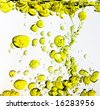 Oil in water forming abstract background - stock photo