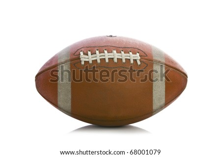 Old american football on a white background