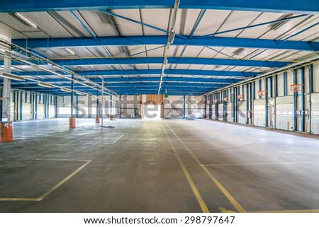 Old and empty industry hall