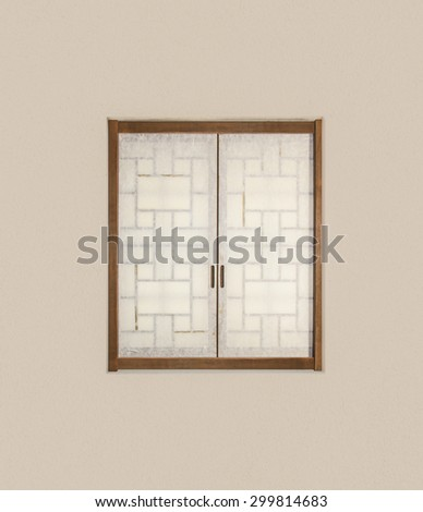 Old Asian style window
