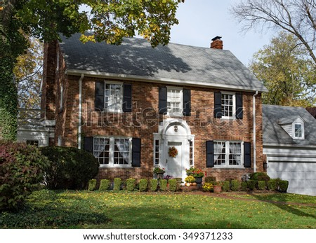 Tan House Porch Stock Photo 129017153 Shutterstock