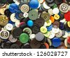 old buttons background - stock photo