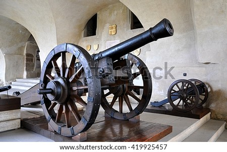 Old Wooden Water Wheel Electric Generator Stock Photo