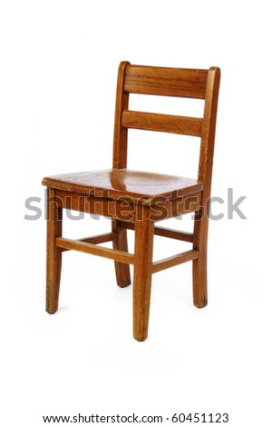 Old distressed wooden Childs chair on white  sc 1 st  Shutterstock : wood step stool chair - islam-shia.org
