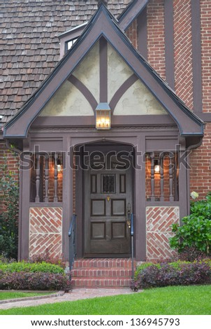 Entrance Nice House Outdoor Landscape Stock Photo 85205713