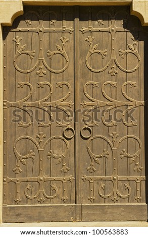 old door with rings