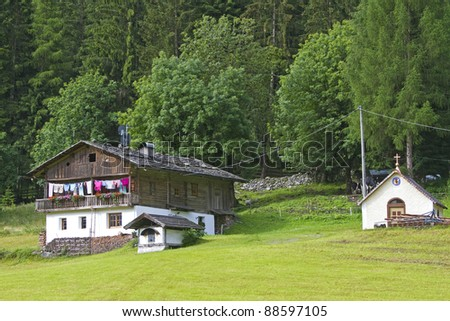 Old farm house in South Tyrol