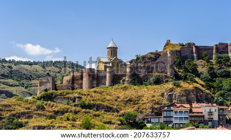 Old fortress of Tbilisi, Georgia. Tbilisi is the capital and the largest city of Geogia