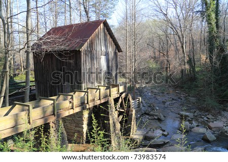 Garden Sheds Marietta Ga old grist mill marietta georgia stock photo 73983574 - shutterstock