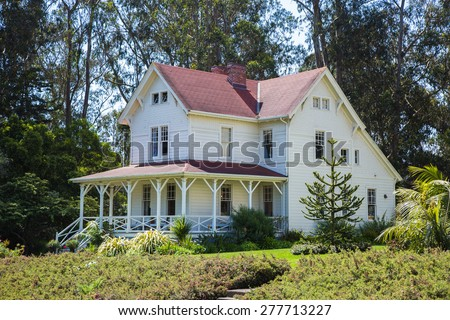 Old house in Presidio Park, San Francisco