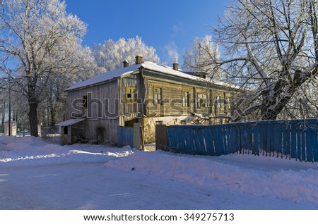 Old house in Suzdal, provincial Russian town