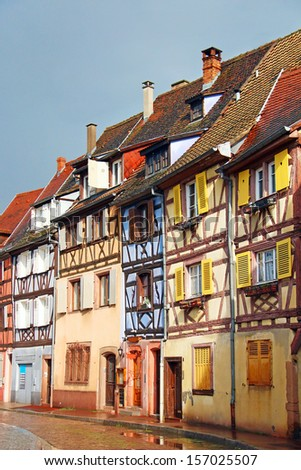 Old houses in downtown Colmar, Alsace, France