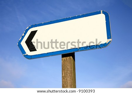 Empty Street Sign On Metal Post Stock Photo 157774187 ...