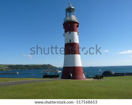 Old lighthouse on Plymouth Hoe known as Smeaton's Tower