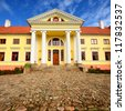 old mansion of former Russian empire.  Durbes castle, Latvia - stock photo