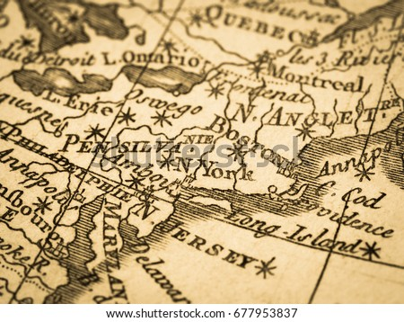 Old Map America Boston Stock Photo Shutterstock - Usa east coast map