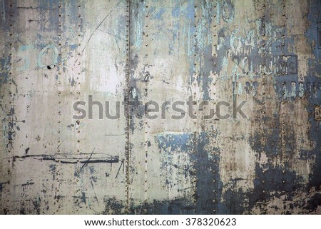 Old metal colorful background.